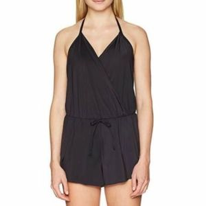 Reaction Kenneth Cole 2-in-1 Swimsuit Romper Black